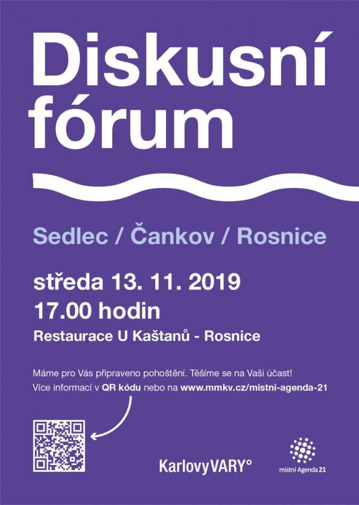 Diskusní fórum pro Sedlec, Čankov, Rosnice