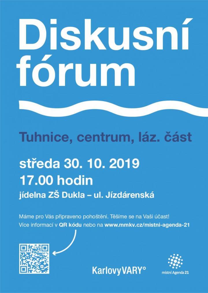 Diskusní fórum Tuhnice, centrum, lázeňská část