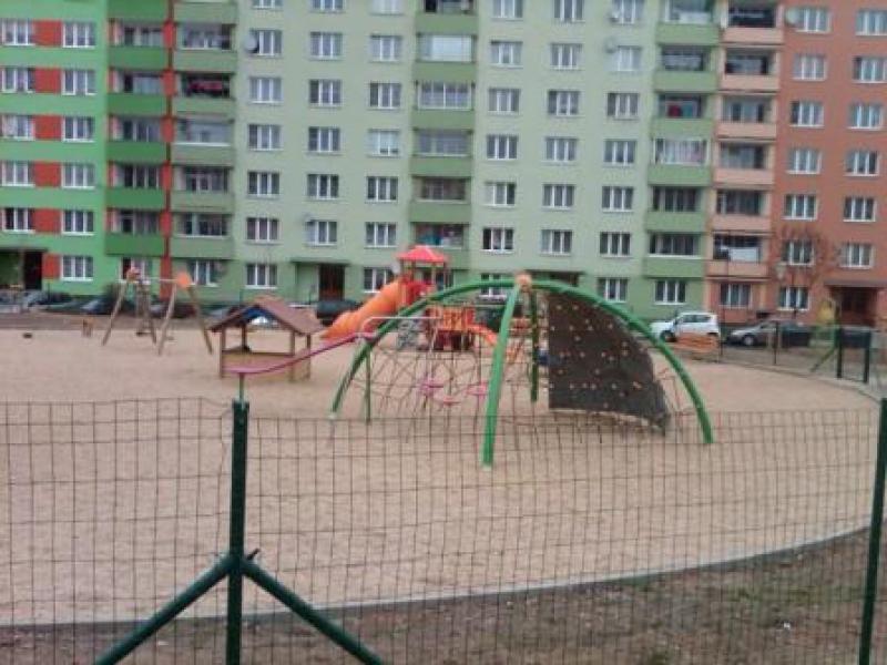 Karlovy Vary, park v ulici Dvořákova