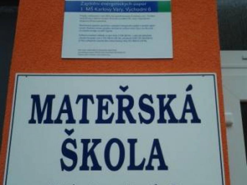 Zajištění energetických úspor 1. MŠ Karlovy Vary, Východní 6